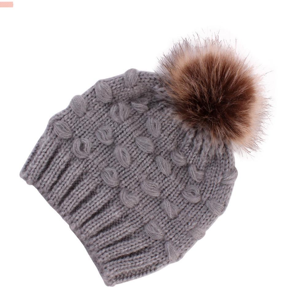 Kids Polar Fleece Lined Beanie Hat Scarf Knitted 2pcs Set Winter Baby Boys Girls 6 Months to 10 Years Thermal Pom Pom Cap Neckerchief Cartoon British