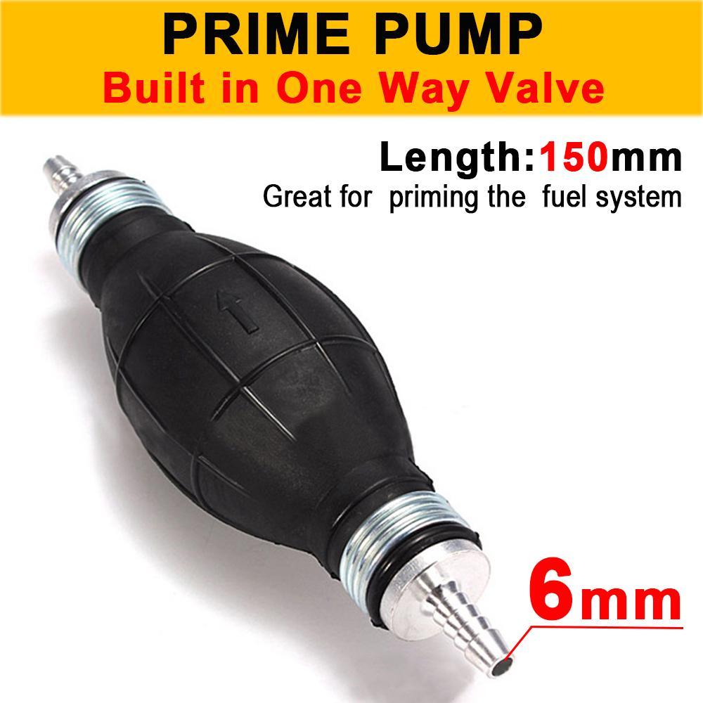8 mm Fuel Line Gasoline Pump Hand Primer Bulb One-way Supply Valve For Car Boat