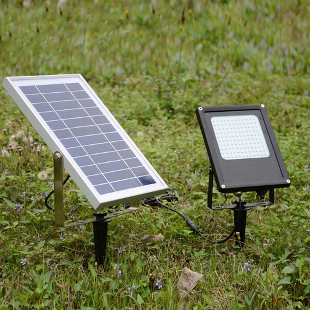 5730SMD Solar panel power Aluminum Solar light Floodlight Cool White Outdoor