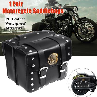 bd6b4f2b928c Motorcycle Hard Trunk Saddle Bag Luggage Case Box w  Bracket Light For  Cruiser. Buy · -86%
