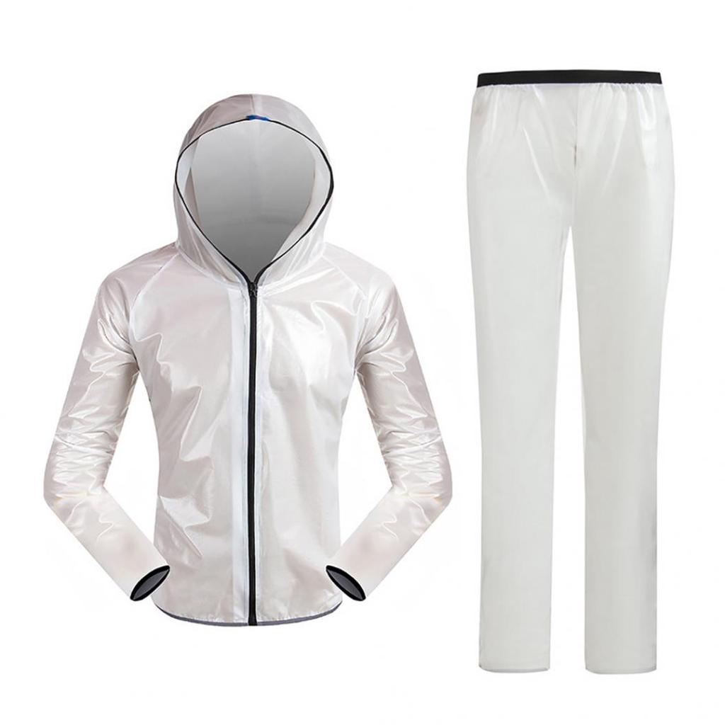 Waterproof Rain Poncho Hiking Cycling Bicycle Raincoat Reflective Strip Rainwear