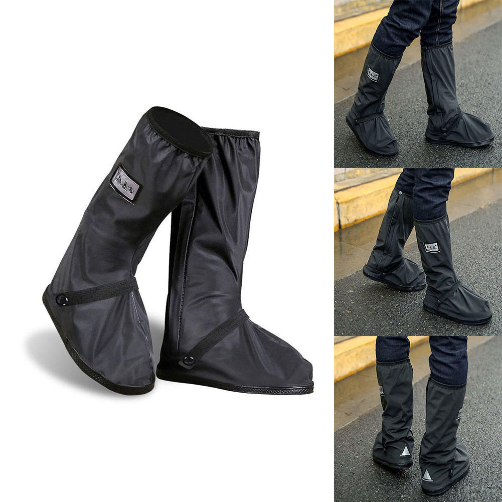 Waterproof Shoe Covers Reusable Rain Mud Motorcycle Cycling Boots with Reflector
