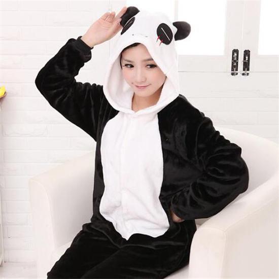 Унисекс мультфильм Panda Onesies Kigurumi пижамы комбинезон Толстовки для взрослых Хэллоуин