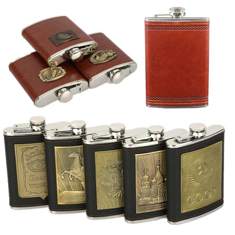 NUOLUX Hip Flask 10 Ounce Stainless Steel Vodka Whisky Hip Flask with Mini Funnel