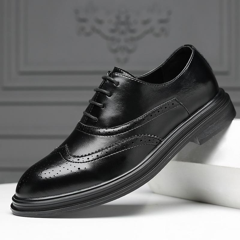 Details about  /Mens Pointy Toe Work Office Wedding Real Leather Dress Formal Business Shoes L