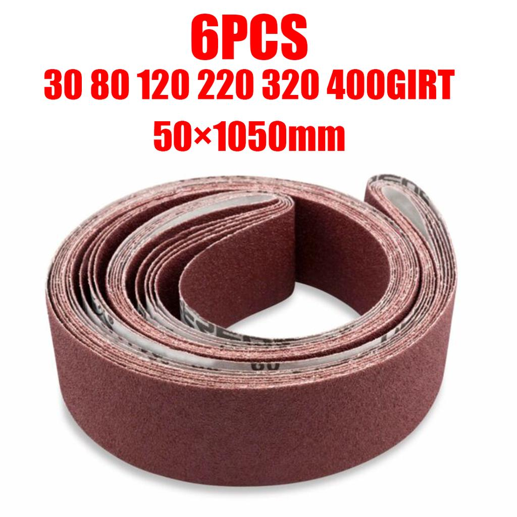 50 x 915mm Pack of 10 80Grit Belt Aluminium Oxide
