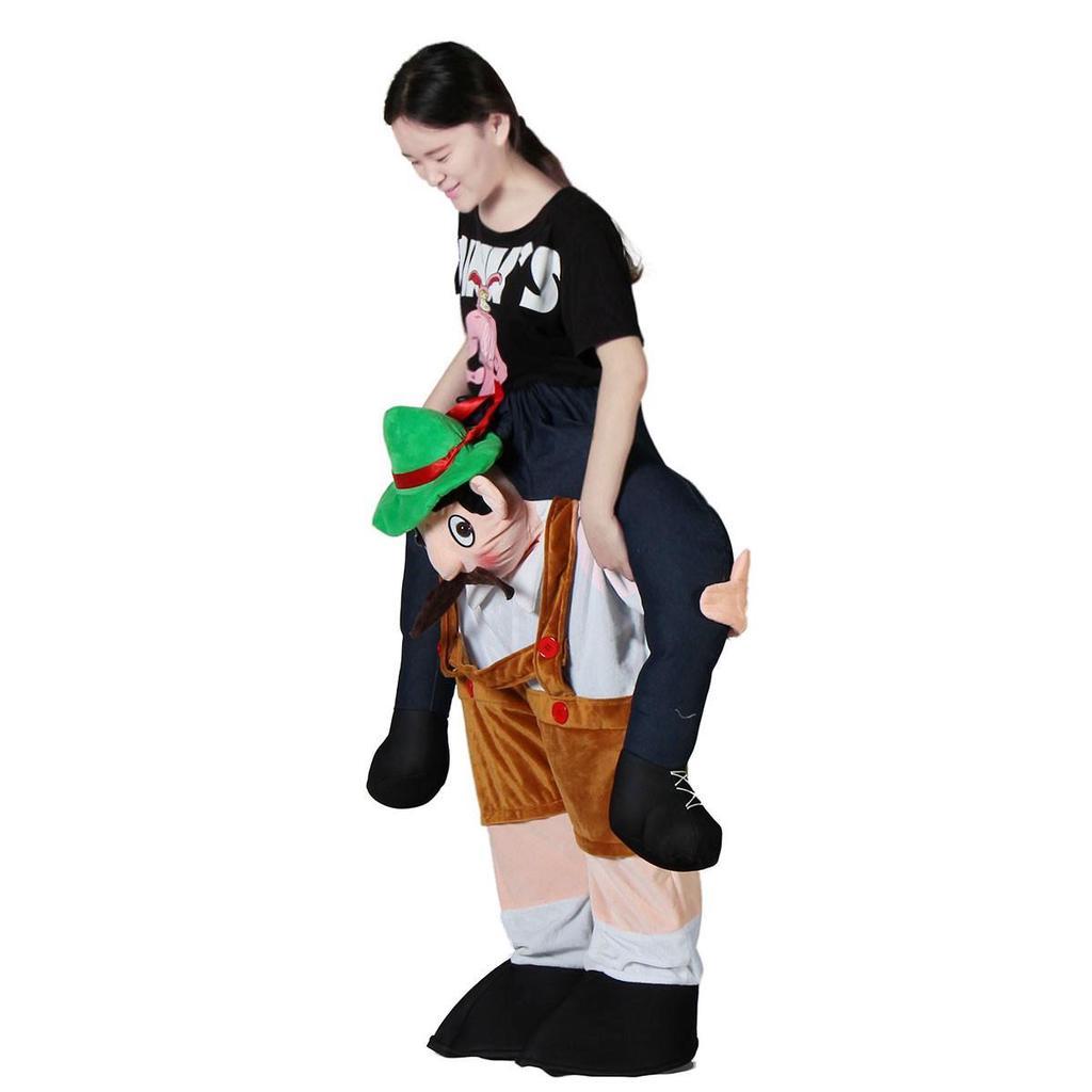 New Fancy Dress Costume Carry Me Bavarian Beer Guy Ride On Oktoberfest Mascot *
