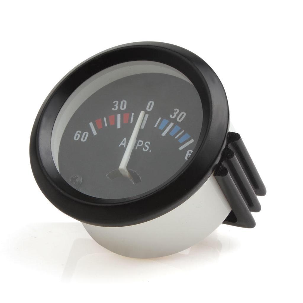 52mm 2 Zoll 60-0-60 AMP Amperemeter Motor Auto Auto Gauge Messgerät ...