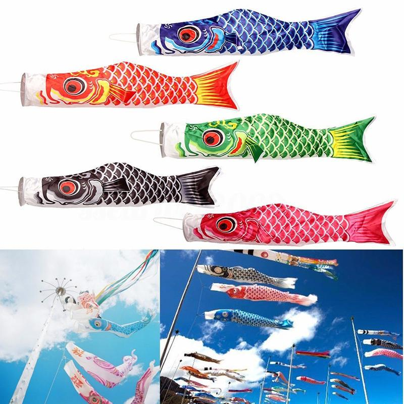 150cm Koi Nobori Windsock Pink Satin Fish Kite Japanese Carp Flag Decoration