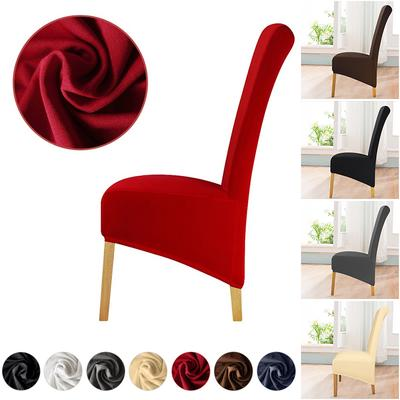 Elastic Velvet Chair Cover Soild Seat Case Seat Stretch Protector Covering