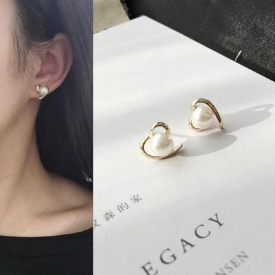 Silver Stud Earrings for Women Korean Gifts for Mom Cute