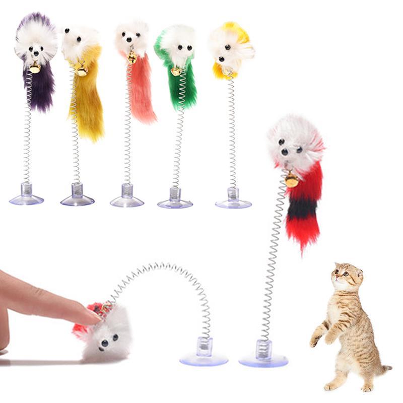 Товары для домашних животных нижней присоски перо упругой ложных мыши дразнилку милый кот игрушки для кошек фото