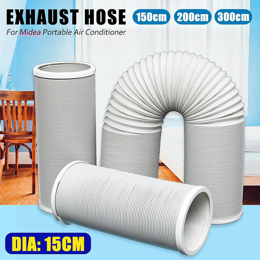 Universal Flexible Room Airconditioner AC Vent Replacement Tube-Window Kit Extension Accessories-1.5//2m Long for Midea Air Conditioner Portable Exhaust Hose