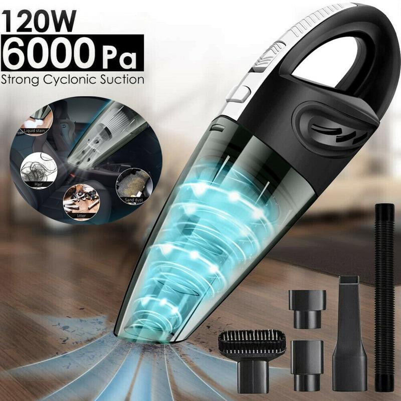 120W Wet /& Dry Vacuum Cleaner Car Cordless Handheld Rechargeable Home Portable