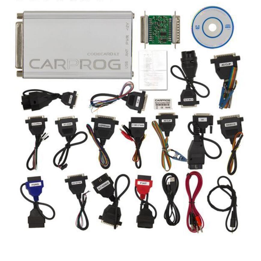 CARPROG FULL V10 93 CAR PROG Car ECU Programmer 21 items Adapters