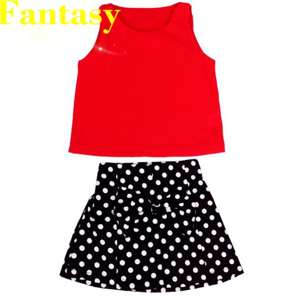 BANG Baby Girls Vest Pleated Dress Two Pieces Clothes Set Skirt Suit