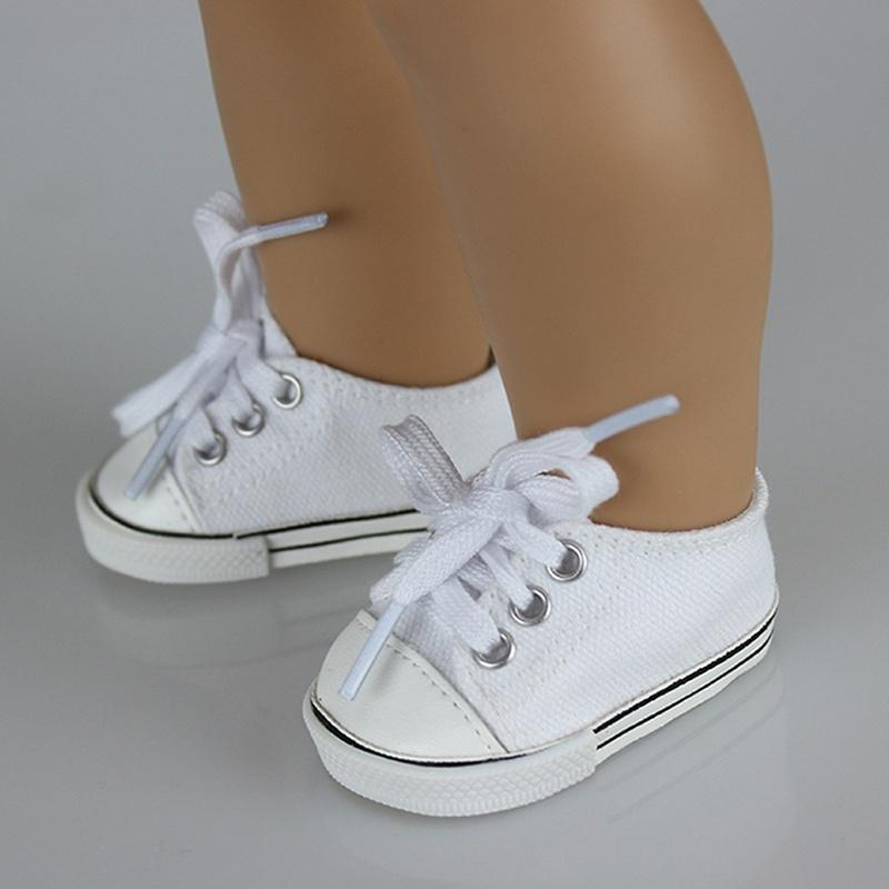 1Pair Doll Canvas Shoes Fits 18 Inch American Girl Other 18 Inch Doll DT