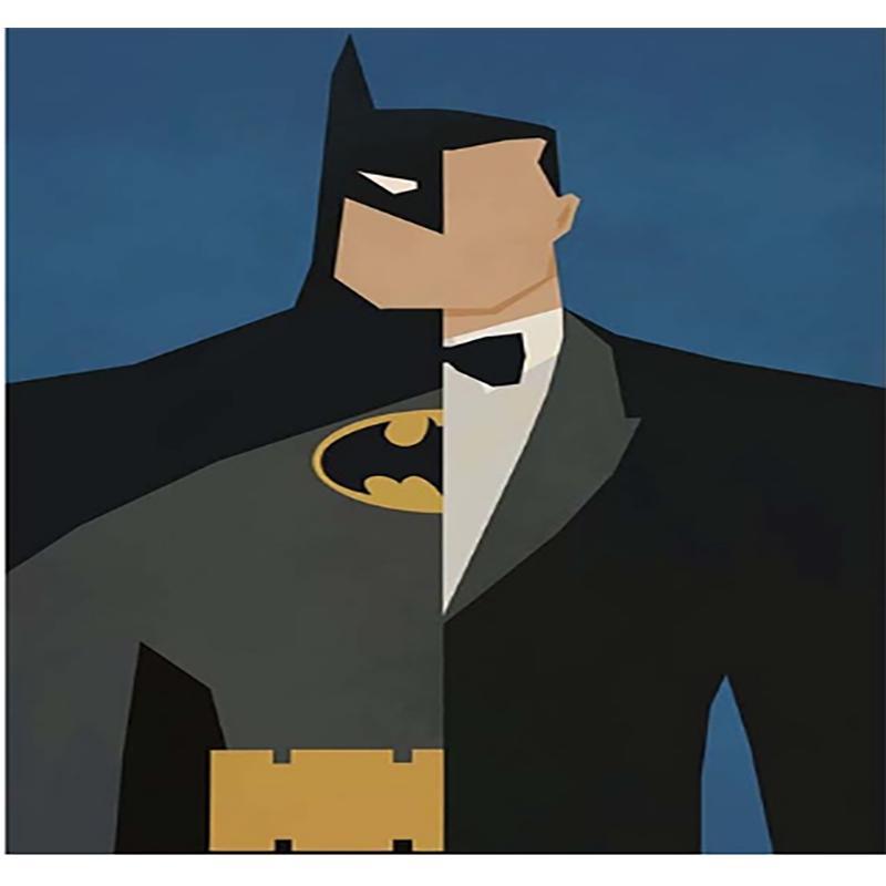 5d Алмазная картина Diy Двусторонний Бэтмен Полный круглый Алмазная Вышивка Главная Украшение Подарки – купить по низким ценам в интернет-магазине Joom