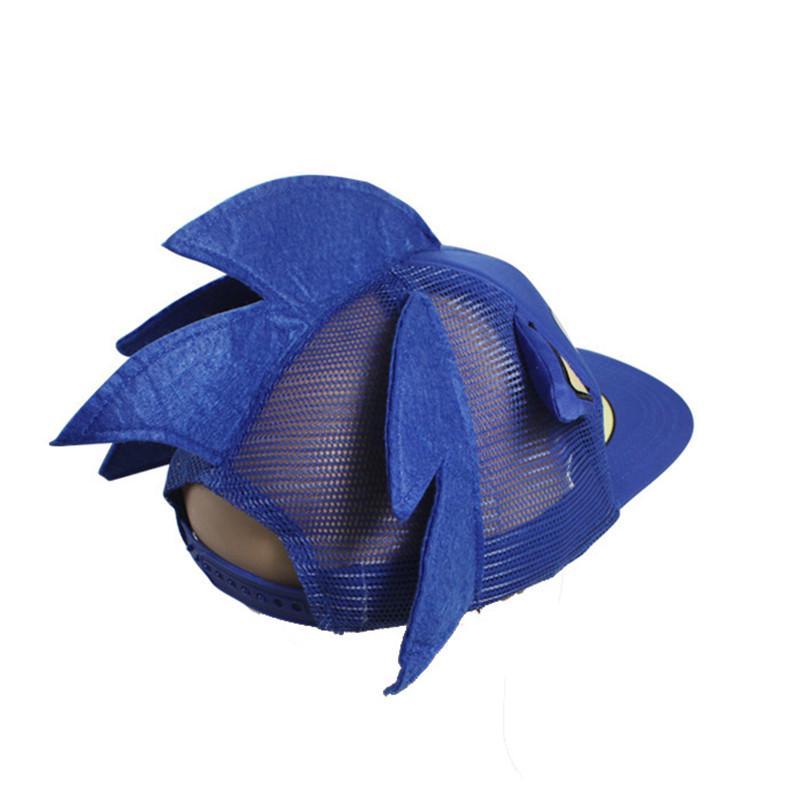 Kids Blue Sonic The Hedgehog Hat Cartoon Adjustable Baseball Boys Hat Gift