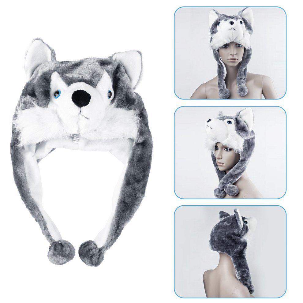 Dibujos animados animales Husky lindo mullida felpa Gorro Gorro bufanda  orejera mascota LS - comprar a precios bajos en la tienda en línea Joom f8d16829aa8