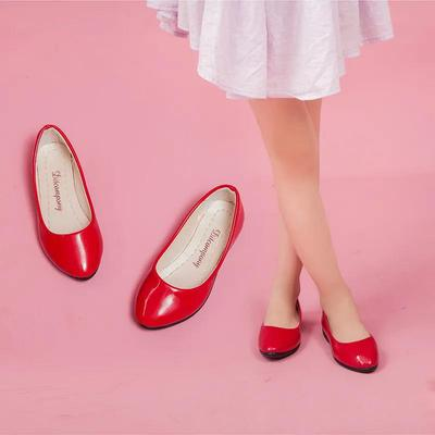 Girls Shoes Spring Summer Girls Soft Sole Low Heel Casual Leather Shoes Solid Color Anti-slip Performance Princess Shoes