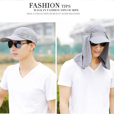 Summer Outdoor Men Sunscreen Quick-drying Anti-mosquito Wind Sand Visor Hat edaa779bdd0f