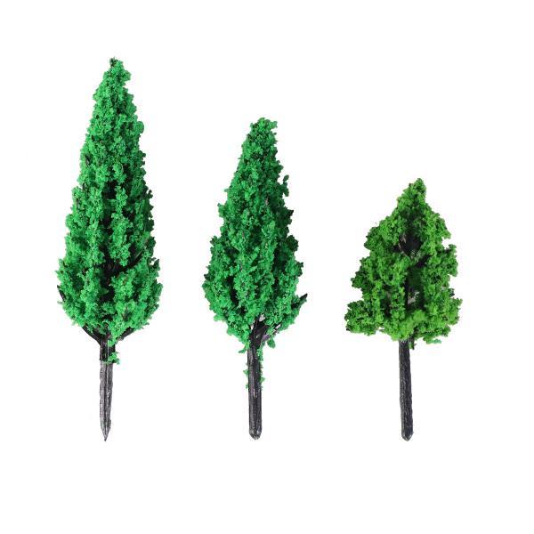 verde 50pcs 1//300 /Árboles Modelo de Tren Artificial Paisaje Pl/ástico