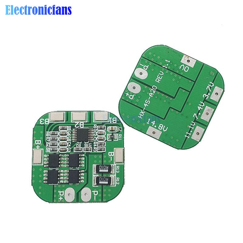4S 14.8v 80A Li-ion Lithium 18650 CellS Battery Protection BMS PCM Board Balance