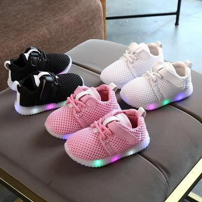 Newborn Toddler Baby Boys Girls Kids Luminous Sneakers Light Up Shoes LED Shoes