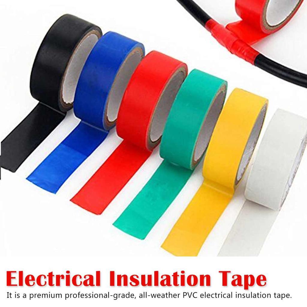 3 X BLACK ELECTRICAL PVC INSULATION TAPE FLAME RETARDANT 18mm X 15m ROLLS