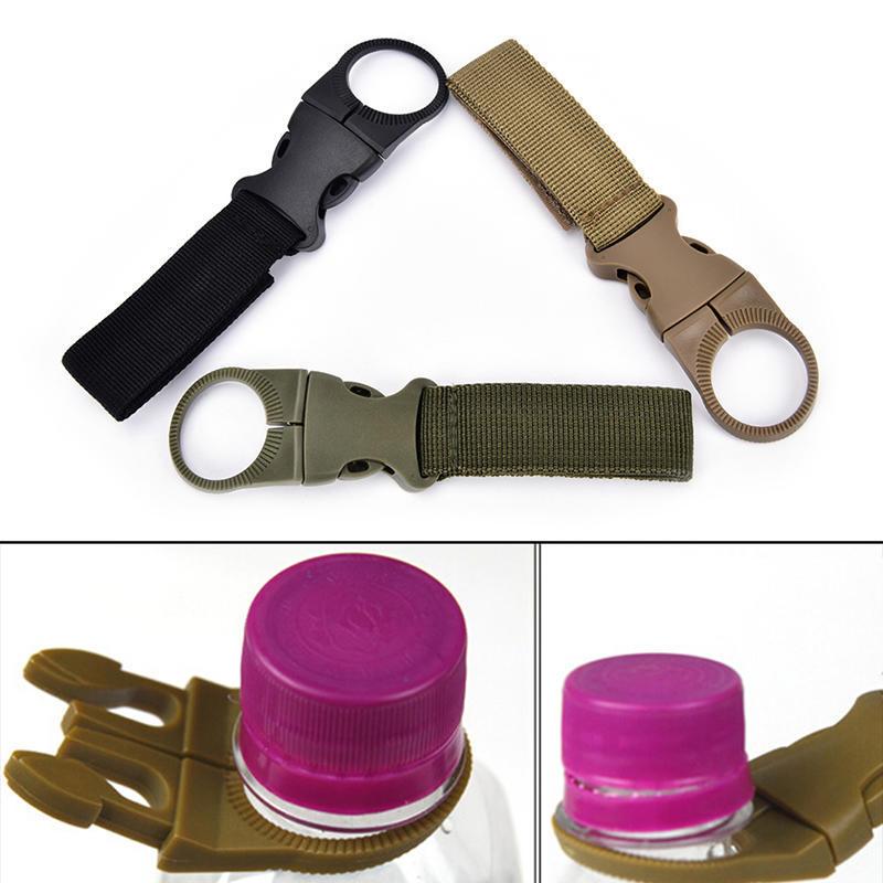4pcs Molle Tactical Nylon Webbing Buckle Hook Water Bottle Holder Clip Carabiner