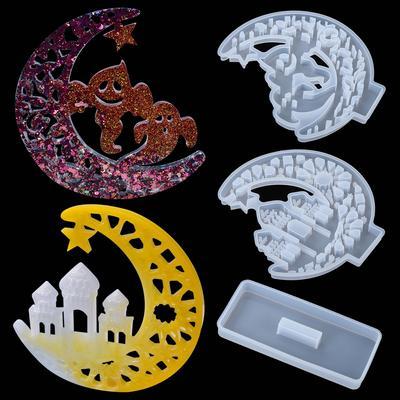 DIY Crystal Epoxy Resin Craft Mould Funny Series Exhibition Board Silicone Mold