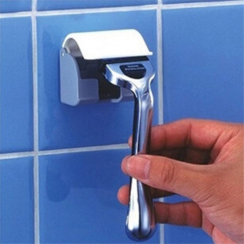 Бритва стойки ванной бритвы держатель хранения стойки вискоза стены крючок вешалки крючок с крышкой фото