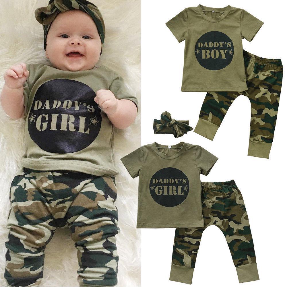 Cute Newborn Baby Boy Summer Cotton Short Sleeve T shirt Pants Leggings Outfits