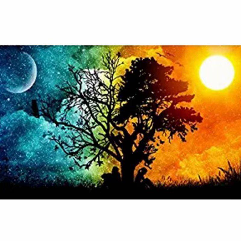 Gece Gunduz 5 D Elmas Diy Boyama Craft Ev Dekor Agac Online