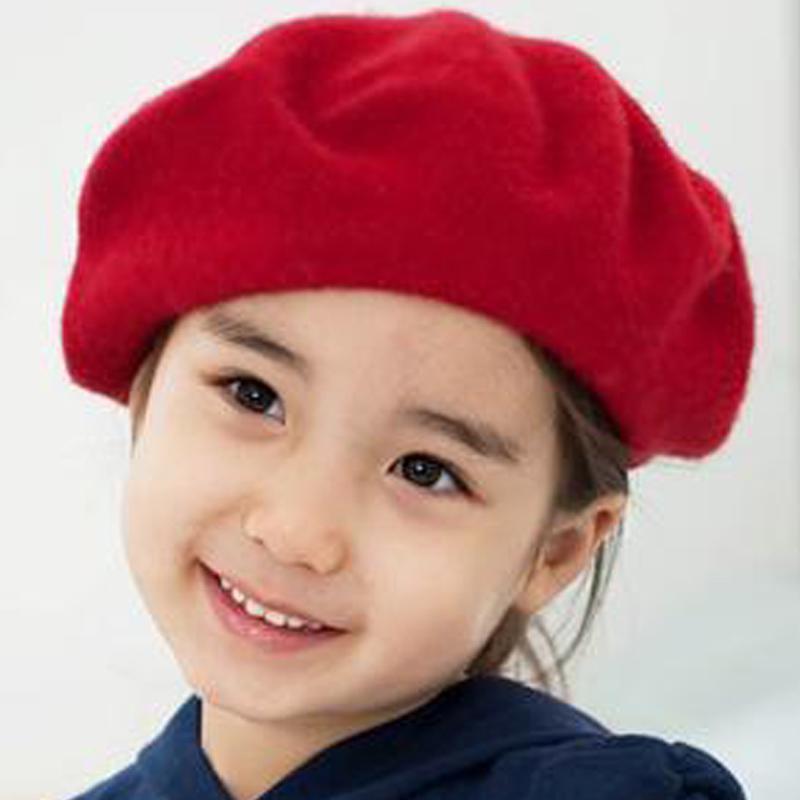 Gorro boina de Francés estilo Vintage bebé niños niñas lana suave ... 03f7e20a132
