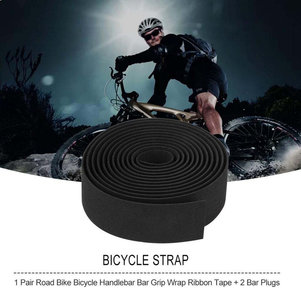 1 Pair Road Mountain Bike Bicycle Non-slip Handle Belt Tape Wrap 2 Bar Plug