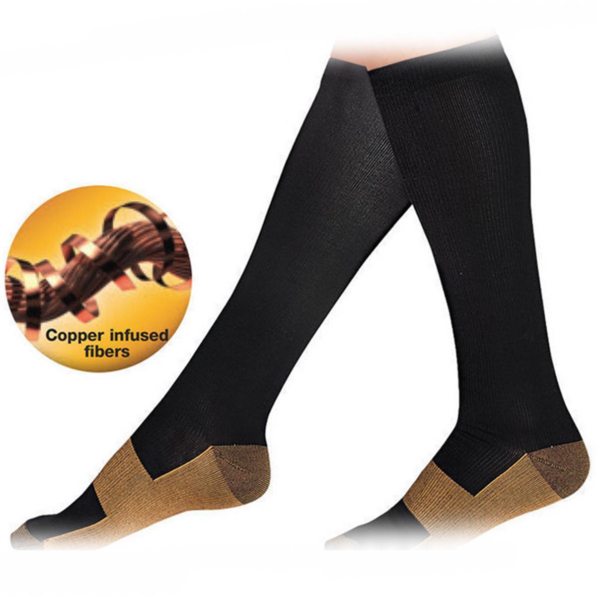瘦腿燃脂 锦纶尼龙压力运动袜新款速干弹力袜诸暨批发防脱过膝袜