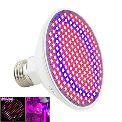 E27 24W 3528 SMD 200 LED Plant Grow Light Red+Blue