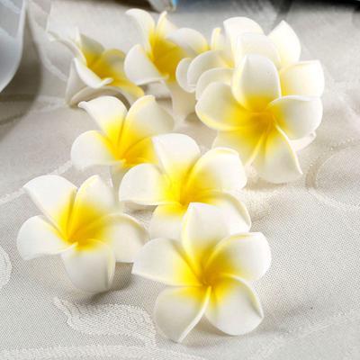 Artifical Foam Frangipani Flower Wedding Bouquet Party Scrapbook DIY Decor 10Pcs
