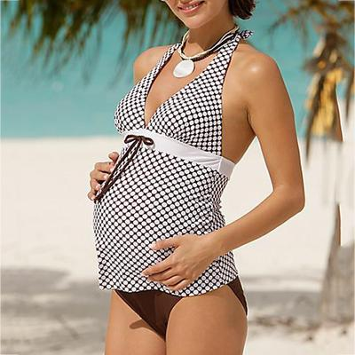 BIFINI Womens Floral Top Ruched Maternity One-Piece Swimsuit Pregnancy Beachwear