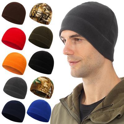 Men Women Spring Autumn Winter Warm Thermal Outdoor Travel Bandana Hat Fleece Ski Beanie Skull Cap