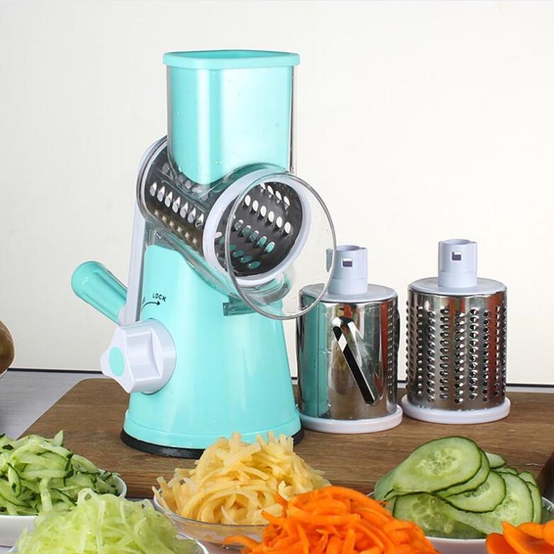 Милая ручная Овощерезка Slicer Кухонные аксессуары многофункциональный раунд Potat Mandoline Slicer фото