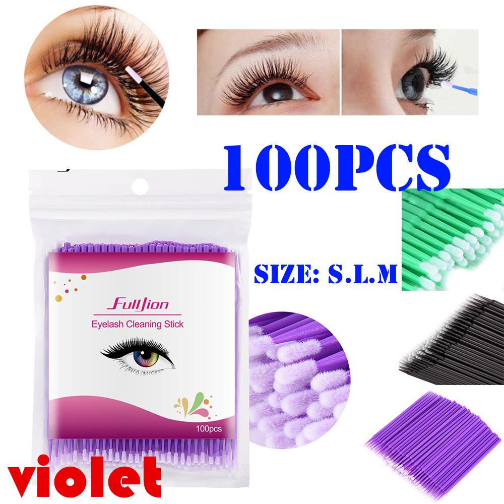 Small and Fine Cleaning Rod for Many Uses,100 pcs//pack. Cotton Bud Grafting Eyelash Gel Remover Paste Special Cotton Swab