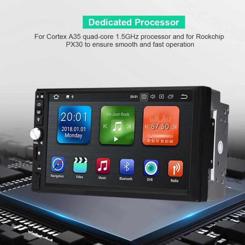 Car Multimedia Player Bluetooth Quad Core WIFI HD 2G+16GB AUX USB SD AM/FM  for Android 8 1