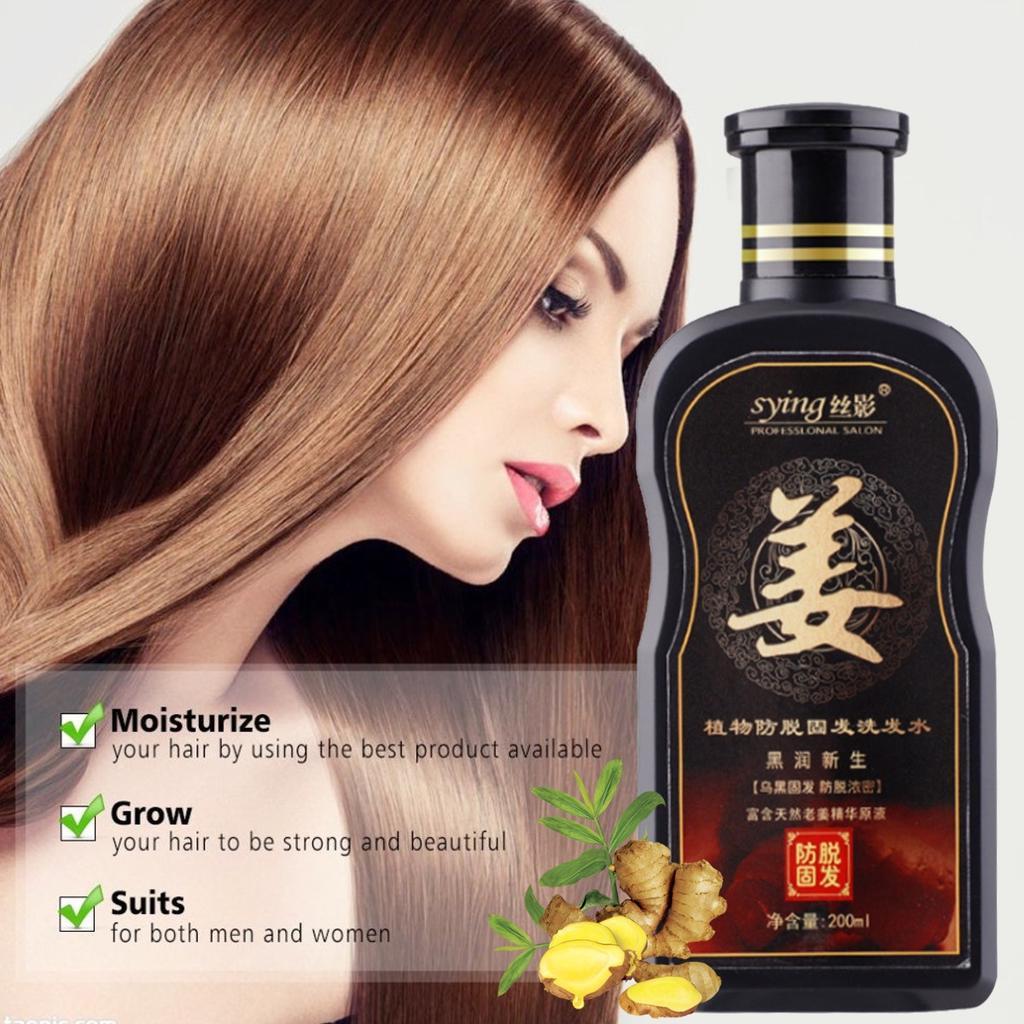 9ml Natural Ginger Shampoo Oil Control Anti Dandruff Anti Hair Loss Hair  Growth Care Unisex