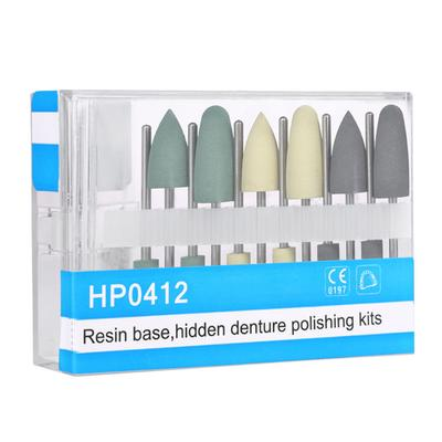 12PCS Low Speed Silicnone Grinding Heads HP0412 for Smoothing Polishing Teeth