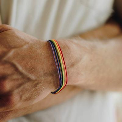 1pc Femmes Rainbow Pride Bracelet Gay Bijoux Bracelet Cadeau Pour Anniversaire Festival