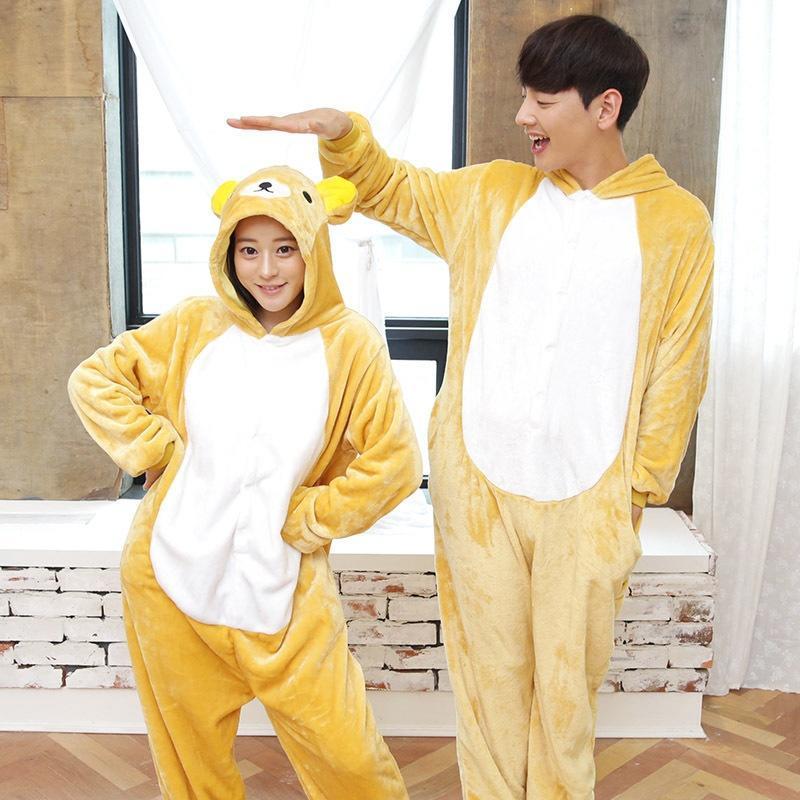 Медведь унисекс взрослых пижамы Kigurumi косплей костюм животных Onesie  пижамы – купить по низким ценам в интернет-магазине Joom 891f43451a212