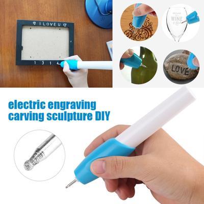 Engraving Electric Craft Pen Carving Handheld Kit Etching Tool Wood Glass Metal